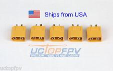 5pk Male XT60 Connector Lipo Battery DJI Phantom F550 F450 Turnigy Female Plug