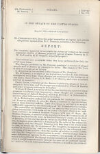 SENATE REPORT ON BRIBERY CHARGES IN  KANSAS  1873