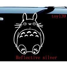 Ghibli Totoro Car Truck car  SUV Vinyl Window Decal Sticker / reflective silver