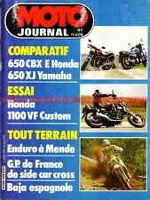 MOTO JOURNAL  608 YAMAHA XJ 650 ; HONDA CBX 650 E VF 1100 C ; HUSQVARNA 125 1983