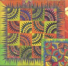 Dancing Batiks paper piecing quilt pattern by  Niemeyer