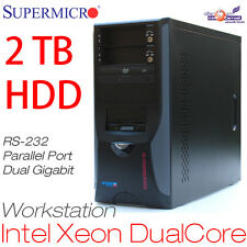 WORKSTATION SERVER DUAL CORE XEON 3050 2TB HDD 1GB WINDOWS XP RS-232 PARALLEL