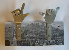METAL DANDIE HANDS New York City Scape Bag Coat hook hanging Rack