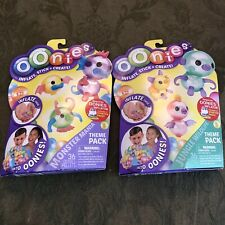 Lot Of 2-Oonies Theme Pack Refill -Jungle Wildlife and Monster Mania -72 Pieces