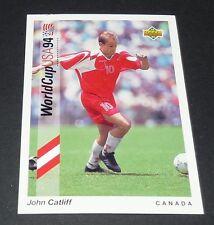 CATLIFF VANCOUVER CANADA SOCCER FOOTBALL CARD UPPER DECK USA 94 PANINI 1994 WM94