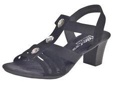 Rieker Damen-Sandalen mit Blockabsatz Echtleder