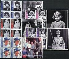 Gibraltar 2001 SG#972-976 QEII 75th Birthday MNH Blocks Set + Labels #D99209