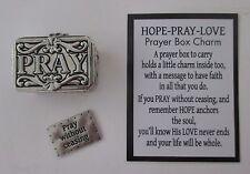 u Pray without ceasing hope love PRAYER BOX CHARM holds message Ganz keepsake