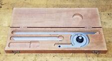 Starrett No C359 Precision Machinist Protractor Blades Wooden Case