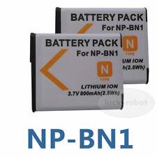 2 X NP-BN1 Li-ion Battery for SONY Cyber-shot W350 W320 W510 DSC-W350 W310 TX7
