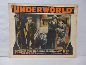 Underworld 1927 Original Lobby Card Movie Memorabilia Crime Drama