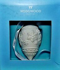 Wedgwood Holiday Snowflake ornament White Teardrop 4.5 inches - New in the Box