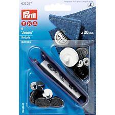 6 Jeansknöpfe Farbe alteisen 20 mm Werkzeug PRYM 622237 alt eisen Jeans Knopf