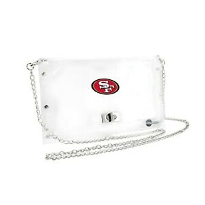 San Francisco 49ers Clear Envelope Purse, NFL Crossbody Stadium Approved