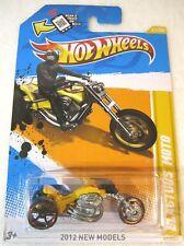 2012 Hot Wheels Blastous Moto Yellow 3 Wheeler Motorcycle 41/247