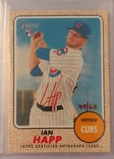 2017 Topps Heritage Ian Happ RC Rookie Real One Red Ink AUTO Autograph /68 Cubs
