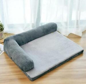Warmie Homy Cushion Dog Pet Sofa Bed Large Grey 105 x 90 x 20cm