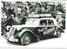 carte postale - TRACTION CITROEN YVETTE HORNER TOUR DE FRANCE 1955