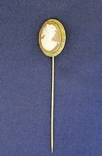 VINTAGE CAMEO PIN / BROOCH SOLID 14K GOLD 1.7g