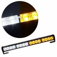 "18"" 16 LED Amber+White Traffic Emergency Warning Vehicle Car Roof/Front Lights"