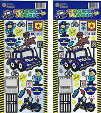 Police Sticker Sheets Lot of 2 Law Enforcement Kids Police Officer Stickers