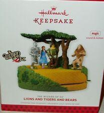 Hallmark Xmas Tree Ornament Wizard of Oz Dorothy Tin Man Scarecrow Cowardly Lion