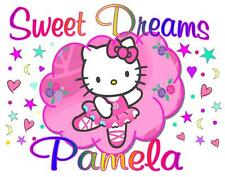 HELLO KITTY Personalized Pillowcase Sweet Dreams Any Name Super Soft multi color