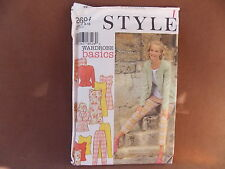 Style Misses Jacket, Dress, Top & Pants Sizes 8-18 Uncut Pattern 2694