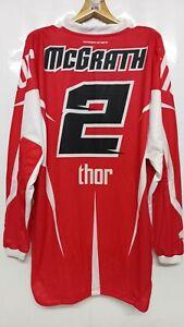 Vintage Motocross THOR Core Jeremy McGrath2 Replica Long Sleeve T-Shirts Size XL
