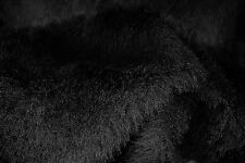 D274 DELUXE INTENSE BLACK MINK FAUX FUR STUNNING REALISTIC QUALITY MADE IN ITALY