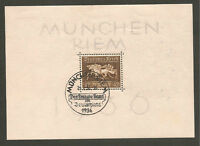 Germany 1936 Brown Ribbon Sheetlet Fine Used