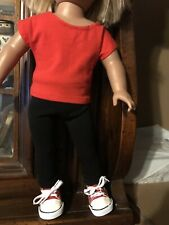 18� Doll Clothes ( 3 Piece Legging Set- Red)