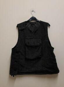 Engineered Garments Black Pinstripe Vest size M {Z170}