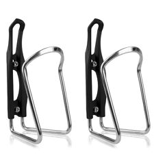 BV 2x Bike Alloy Water Bottle Cage Bicycle Holder Rack Ultralight BV-BC91-SL-PR