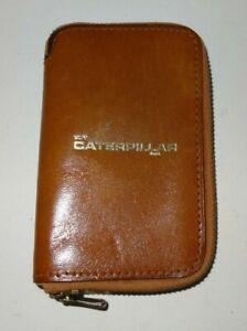 1970s / 1980s Catepillar advertizing, leather key case / ring / fob.