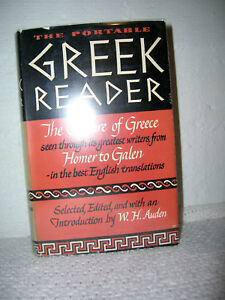 The Portable Greek Reader W. H. Auden Editor 1950 2nd Printing HC/DJ Great Cond!
