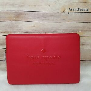 Kate Spade Sienne Logo Laptop Sleeve Case Hot Chili Red Laptop Case New W Tag