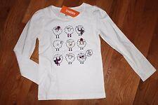 NWT Gymboree Bundled & Bright Size 7 White Sheep Ewe Lookin at Me Shirt Top