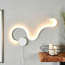 LED Wandleuchte Sandor Wellenform Stecker Schalter Dimmer 3 Stufen Lampenwelt