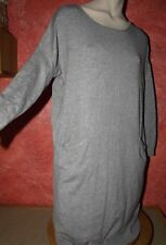 P.Iva long Pullover Sweater Strick Gr.EG (M/L 38/40/42) mit Wolle Tunika Kleid