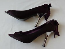 Your Feet Look Gorgeous Dark Lilac Women's Pumps Shoes High Heels Evening Party