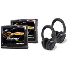 NEXTBASE Duo Cinema 2 x Kopfstützen-Monitore mit 2x DVD-Player + 2 IR-Kopfhörer