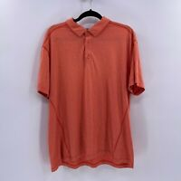 MSX Michael strahan performance polo shirt sz XXL heather orange