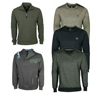 Branded Mens Plain Sweatshirt Jumper Sweater Pullover Work Casual Tops