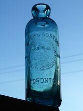 Rare Toronto, Ontario Hutchinson soda bottle 'WALSH & NORTON' BIMAL FREE SHIP!
