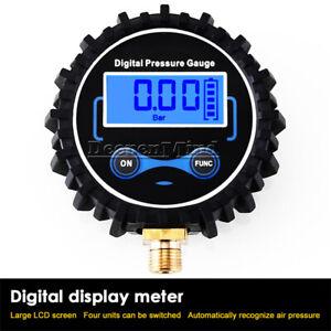LED Digital Pressure Gauge Tire Pressure Inflation Gun 1/4 (13MM) Range 200PSI