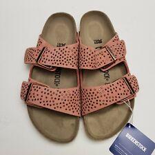 New Birkenstock Arizona Crafted Rivets Rose Sandal 38 N