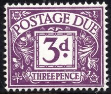 1968 - 1969 3d Violet Postage Due No Watermark SG D70 Spec Z41 Unmounted Mint