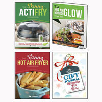 Skinny Hot Air Fryer,ActiFry Cookbook 3 Books Collection With Gift Journal SetUK