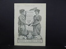 Illustrated London News Ads ONE Double-Sided Page c1888 S2#11 Beecham's Pills